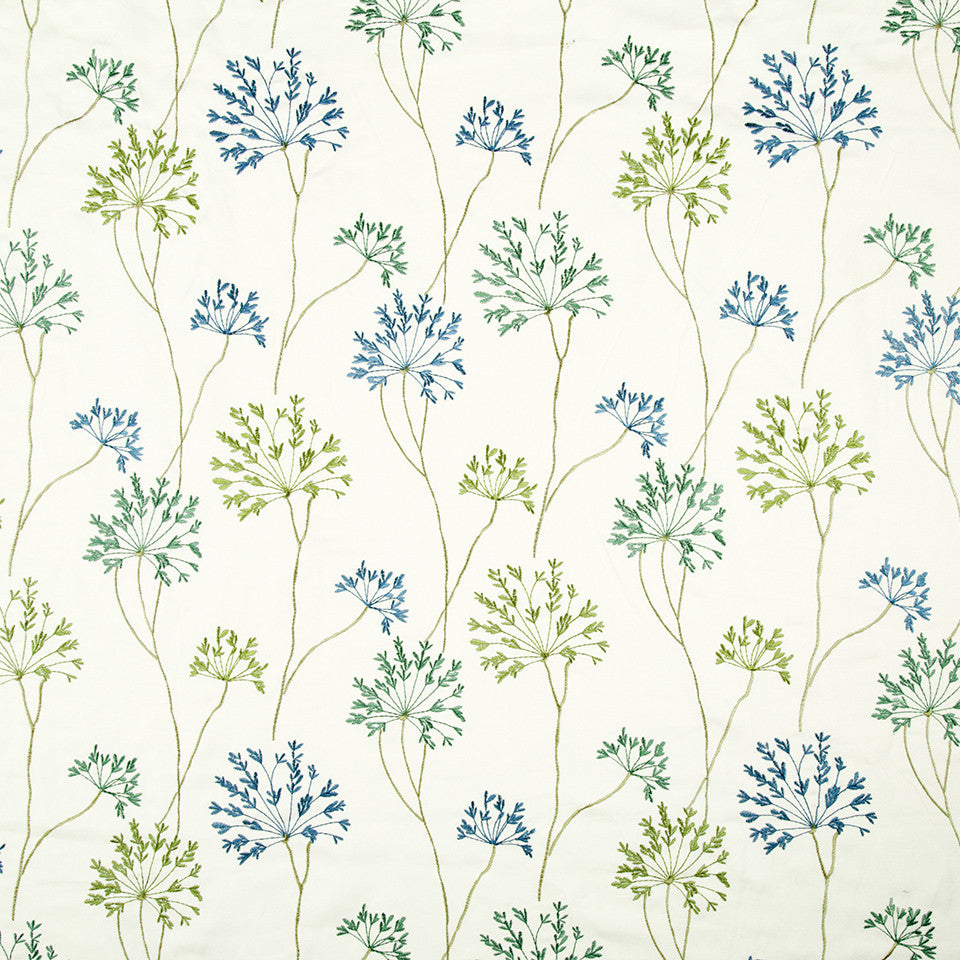 SPRING GRASS Old Silver Way Fabric - Spring Grass
