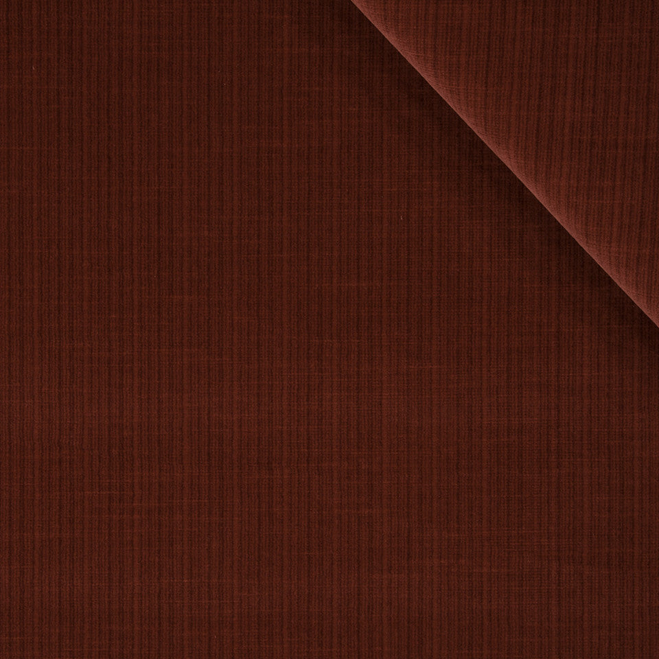 STRIE VELVETS Leyritz Fabric - Lacquer Red