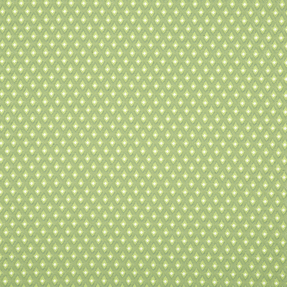 SPRING GRASS Many Diamonds Fabric - Spring Grass