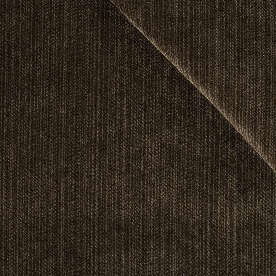 STRIE VELVETS Plush Strie Fabric - Chocolate