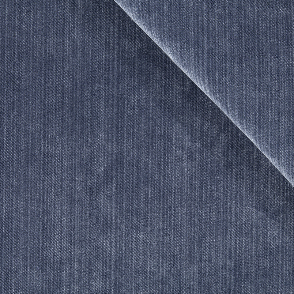 STRIE VELVETS Plush Strie Fabric - Indigo