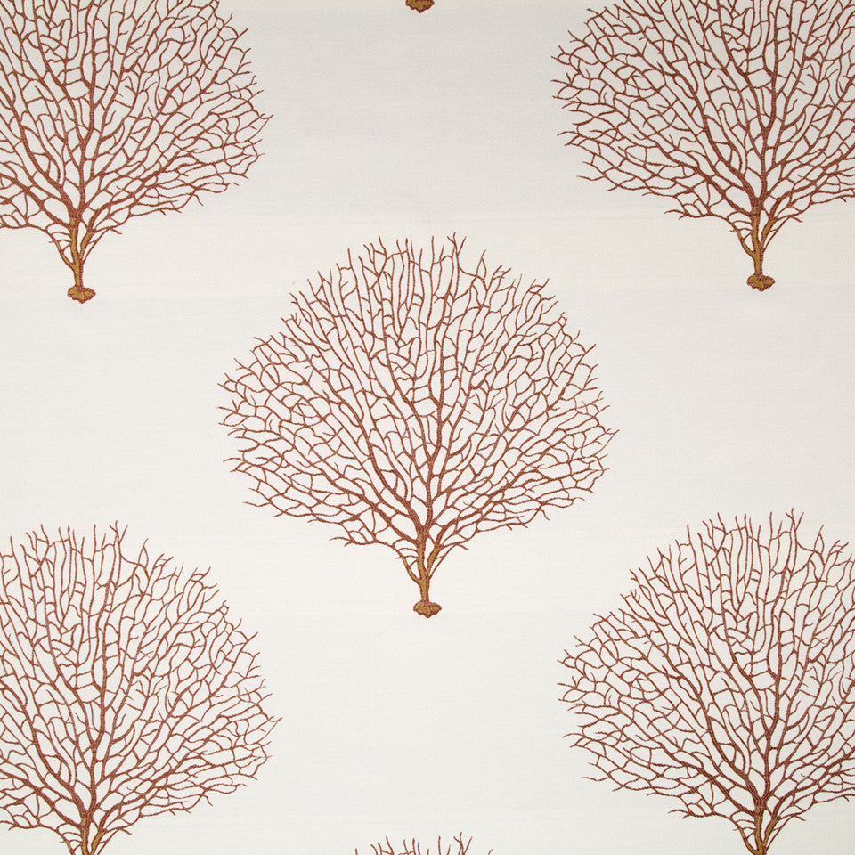 CORAL REEF Tree Branch Fabric - Coral Reef