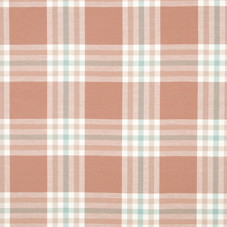 CORAL REEF Plenty Plaid Fabric - Coral Reef