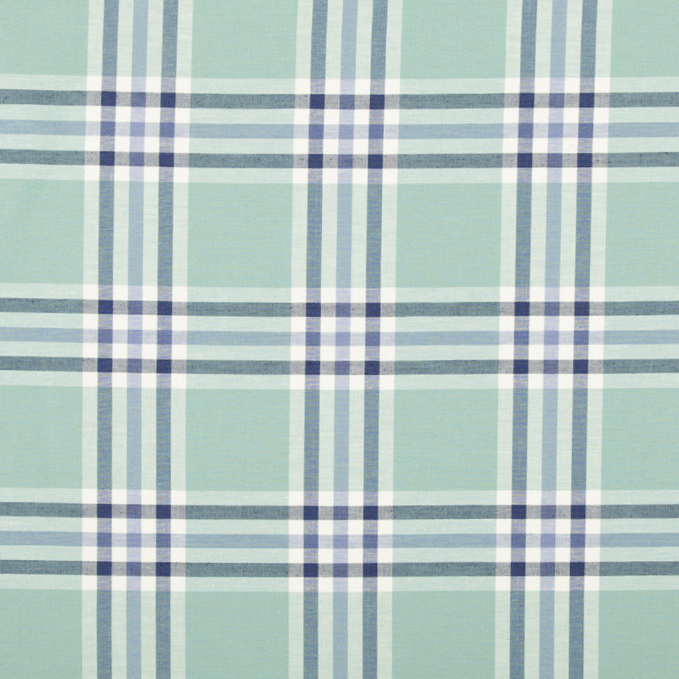 WATER Plenty Plaid Fabric - Water