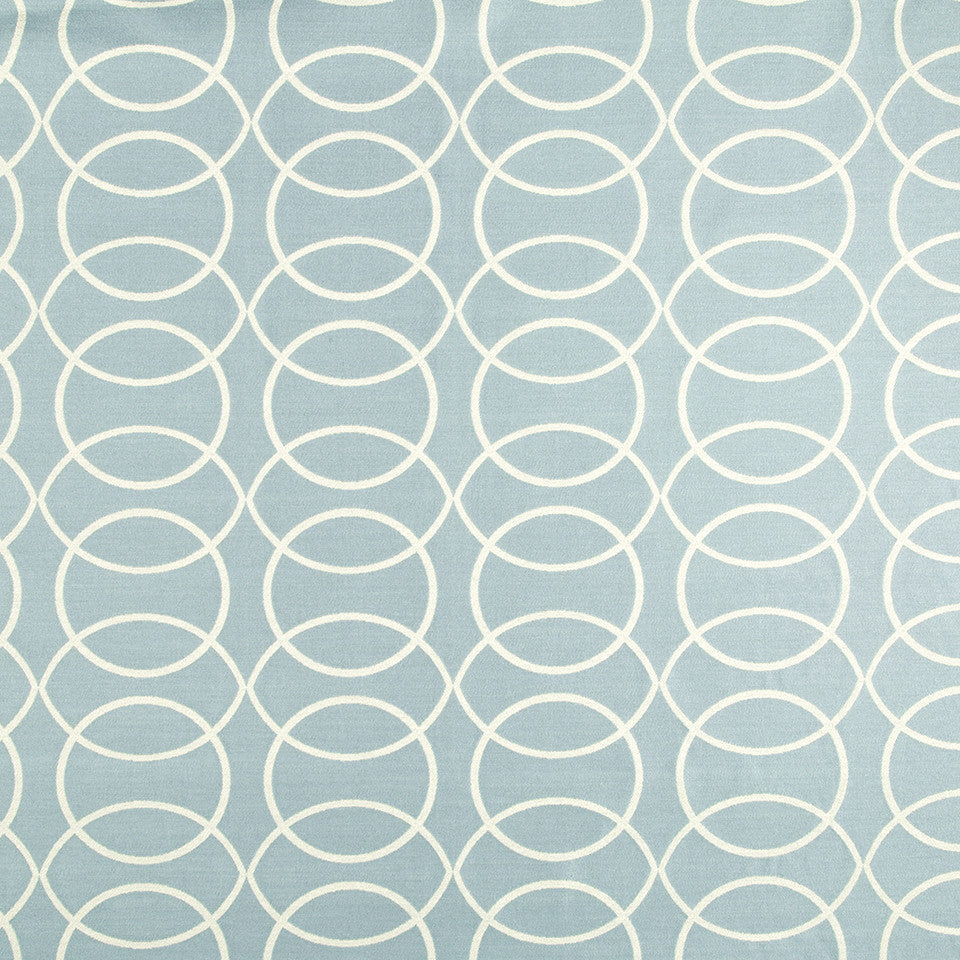 WATER Circle Grove Fabric - Water