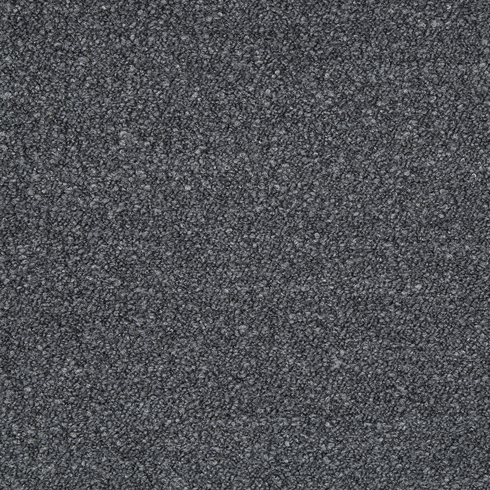 PLUSH BOUCLE SOLIDS Hudson Boucle Fabric - Blue Coal