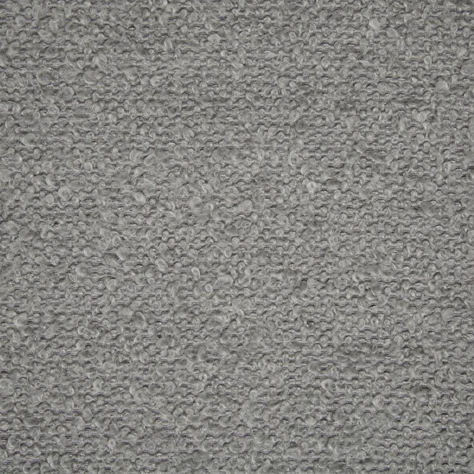 PLUSH BOUCLE SOLIDS Mohair Boucle Fabric - Warm Gray