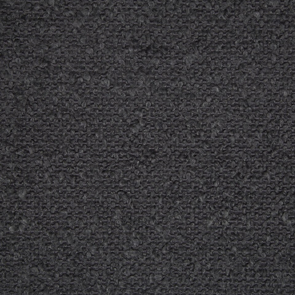 PLUSH BOUCLE SOLIDS Mohair Boucle Fabric - Thunder