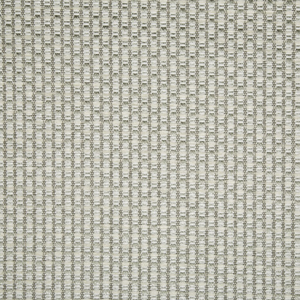 PLUSH CHENILLE SOLIDS Gilded Raffia Fabric - Silver