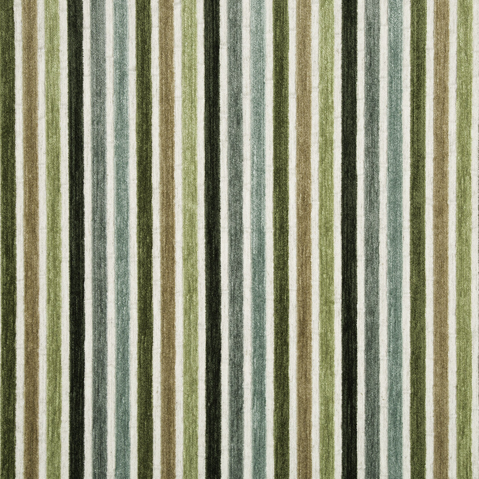 SPRING GRASS Kara Stripe Fabric - Spring Grass