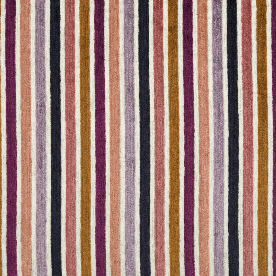 CORAL REEF Kara Stripe Fabric - Coral Reef