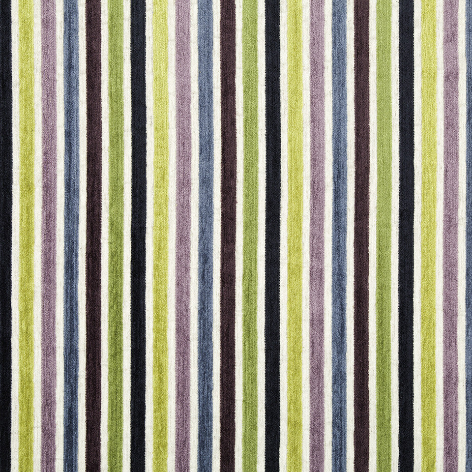 SPRING GRASS Kara Stripe Fabric - Leaf