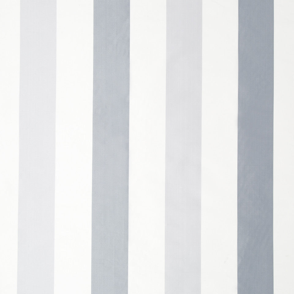 SILK STRIPES & PLAIDS Sakura Stripe Fabric - Atlantic