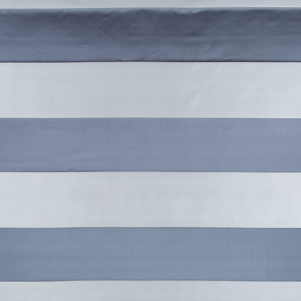 SILK STRIPES & PLAIDS Yasmin Stripe Fabric - Atlantic