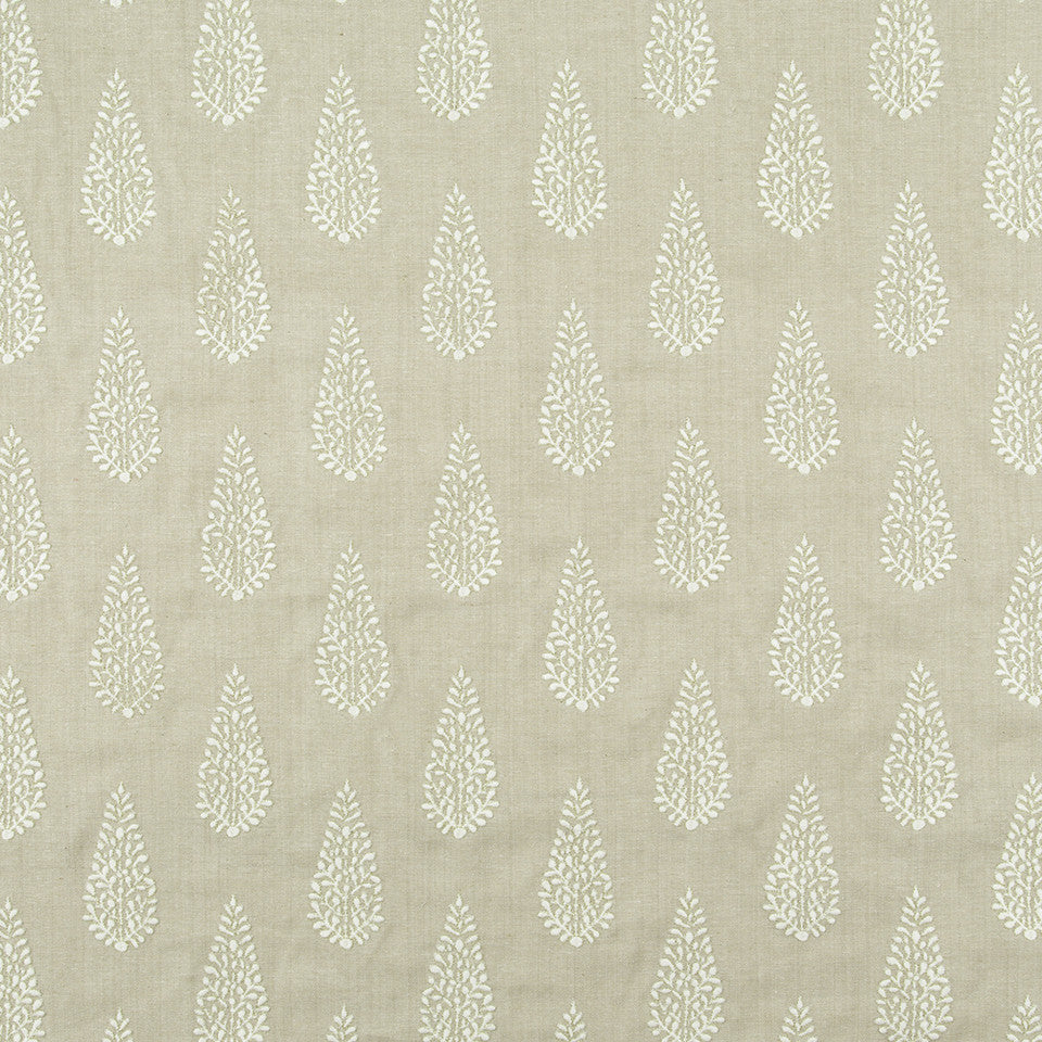 SILK JACQUARDS & EMBROIDERIES III Pedra Bonita Fabric - Travertine