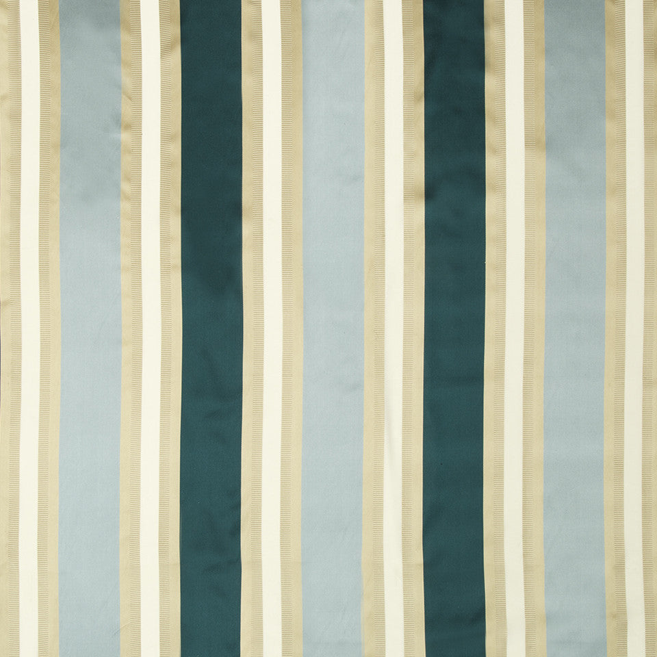 SILK STRIPES & PLAIDS Leblon Stripe Fabric - Neptune