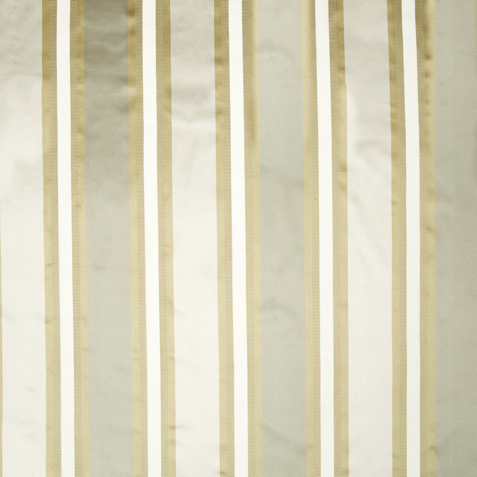 SILK STRIPES & PLAIDS Leblon Stripe Fabric - Haze