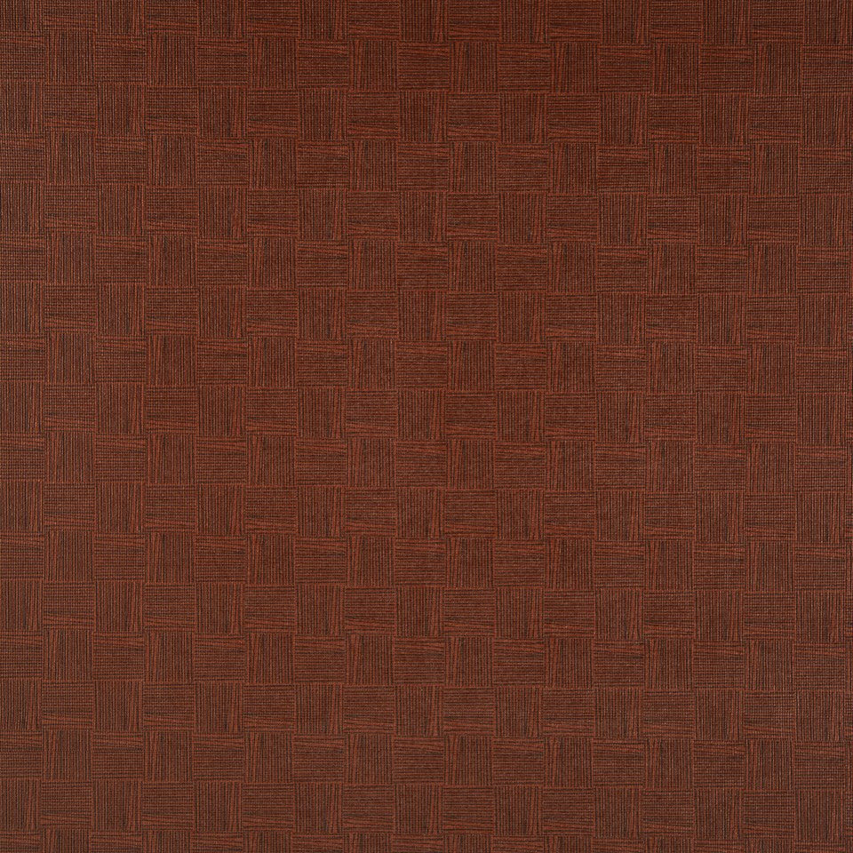 FAUX LEATHER II Thatched Fabric - Burgundy