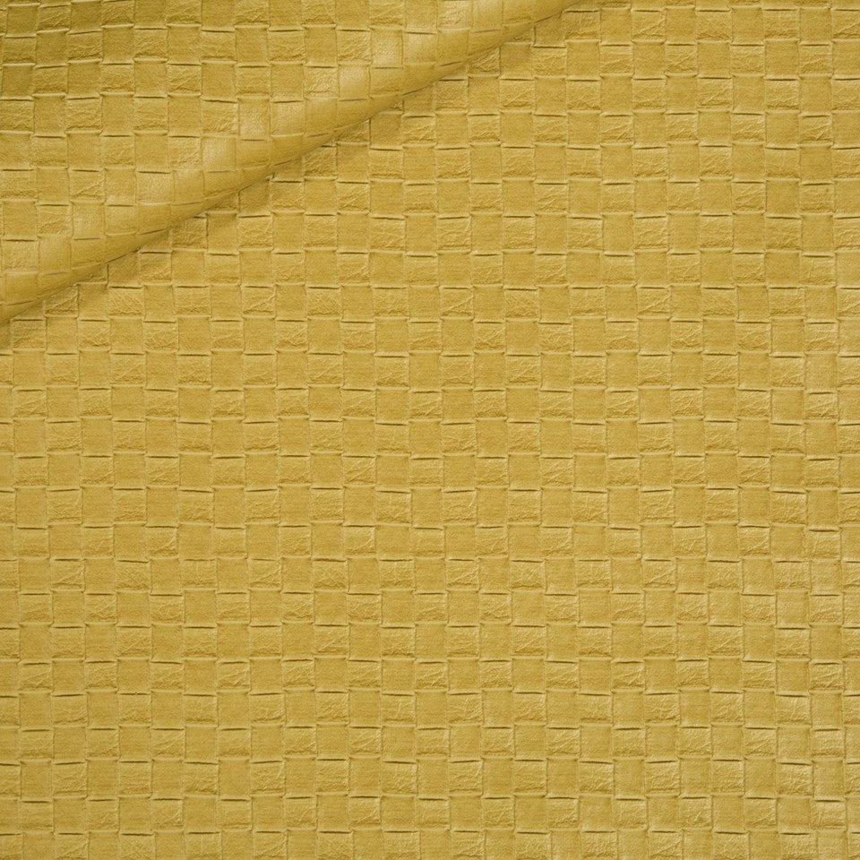 FAUX LEATHER II Via Veneta Fabric - Marigold