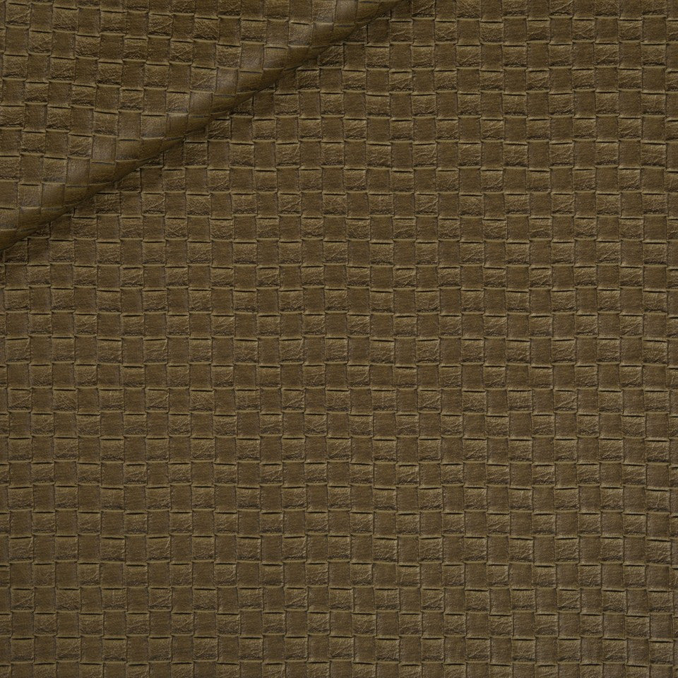 FAUX LEATHER II Via Veneta Fabric - Whiskey