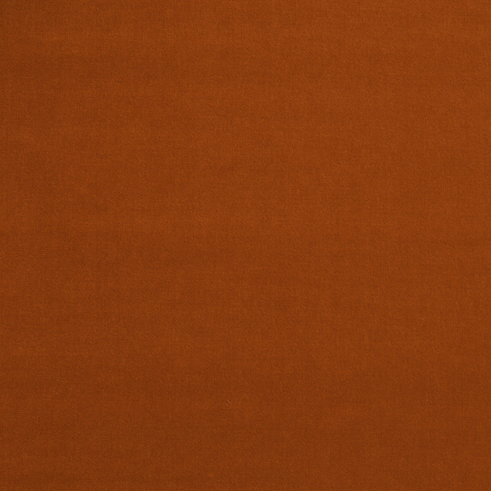 COTTON VELVET SOLIDS Lady Elsie Fabric - Burnt Orange