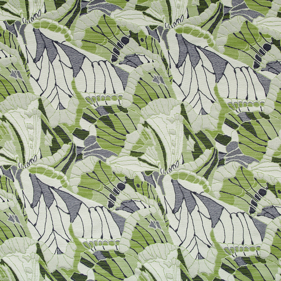 SPRING GRASS Leafy Look Fabric - Spring Grass