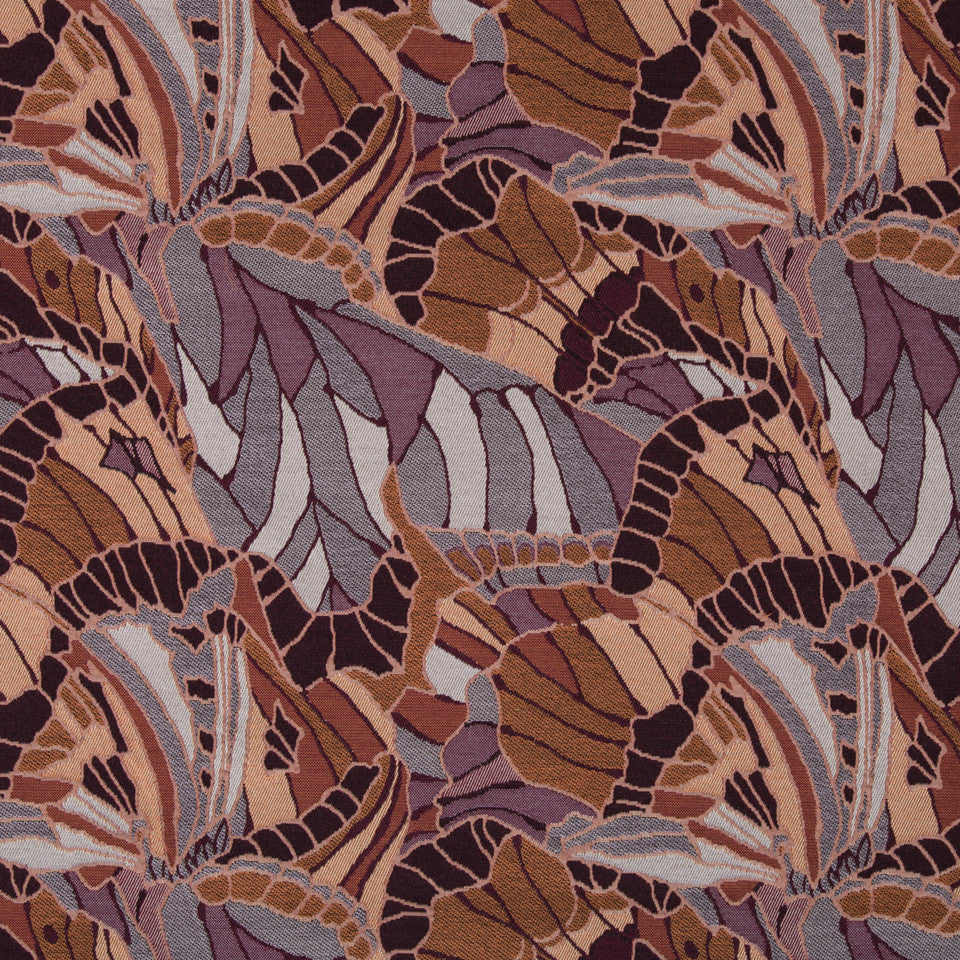 CORAL REEF Leafy Look Fabric - Coral Reef