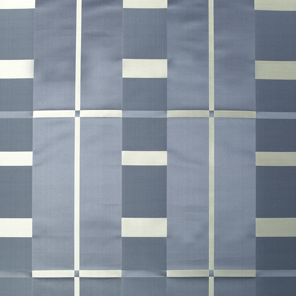 SILK STRIPES & PLAIDS Studio Plaid Fabric - Atlantic