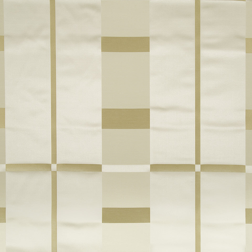 SILK STRIPES & PLAIDS Studio Plaid Fabric - Gold