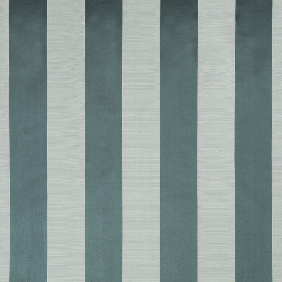 SILK STRIPES & PLAIDS Satin Smooth Fabric - Neptune
