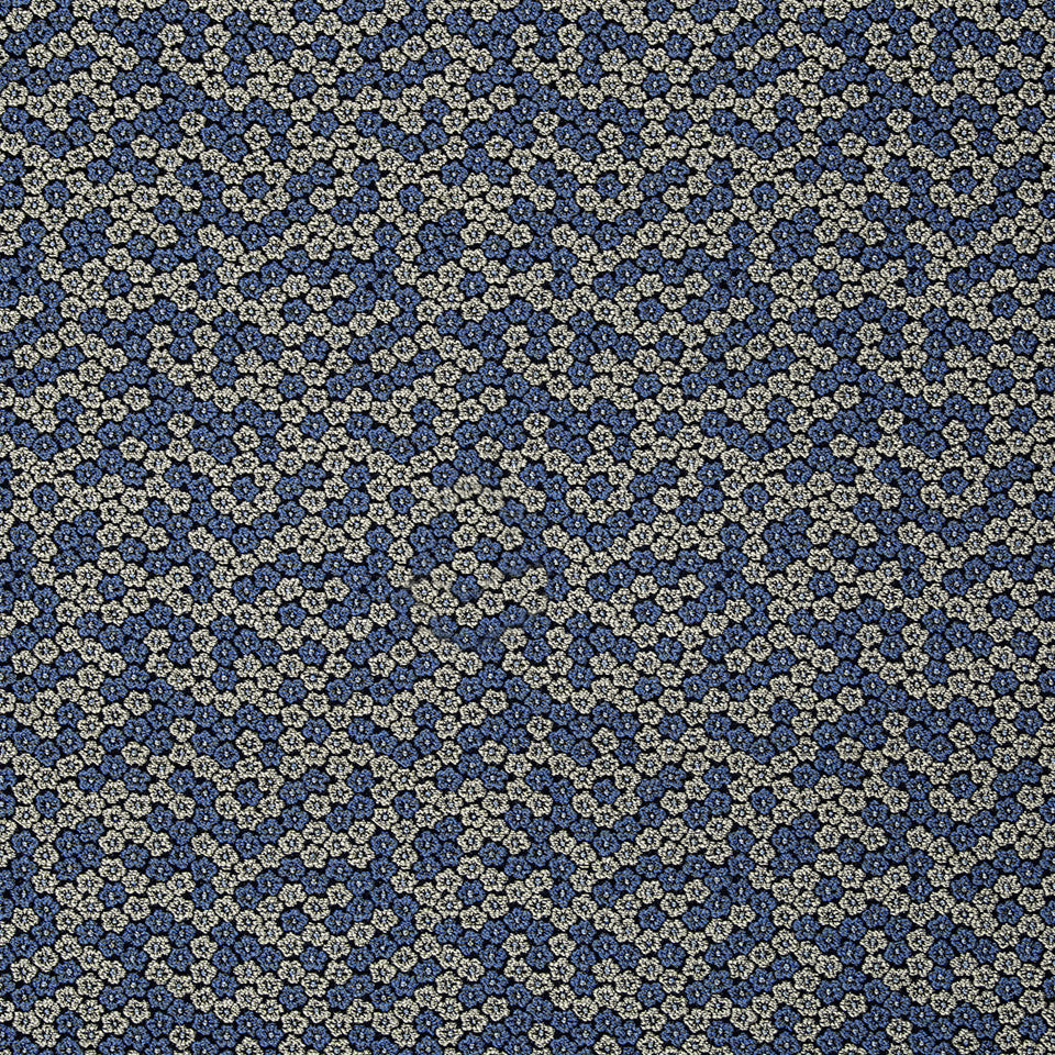 SILK JACQUARDS & EMBROIDERIES III Luana Florette Fabric - Island Blue