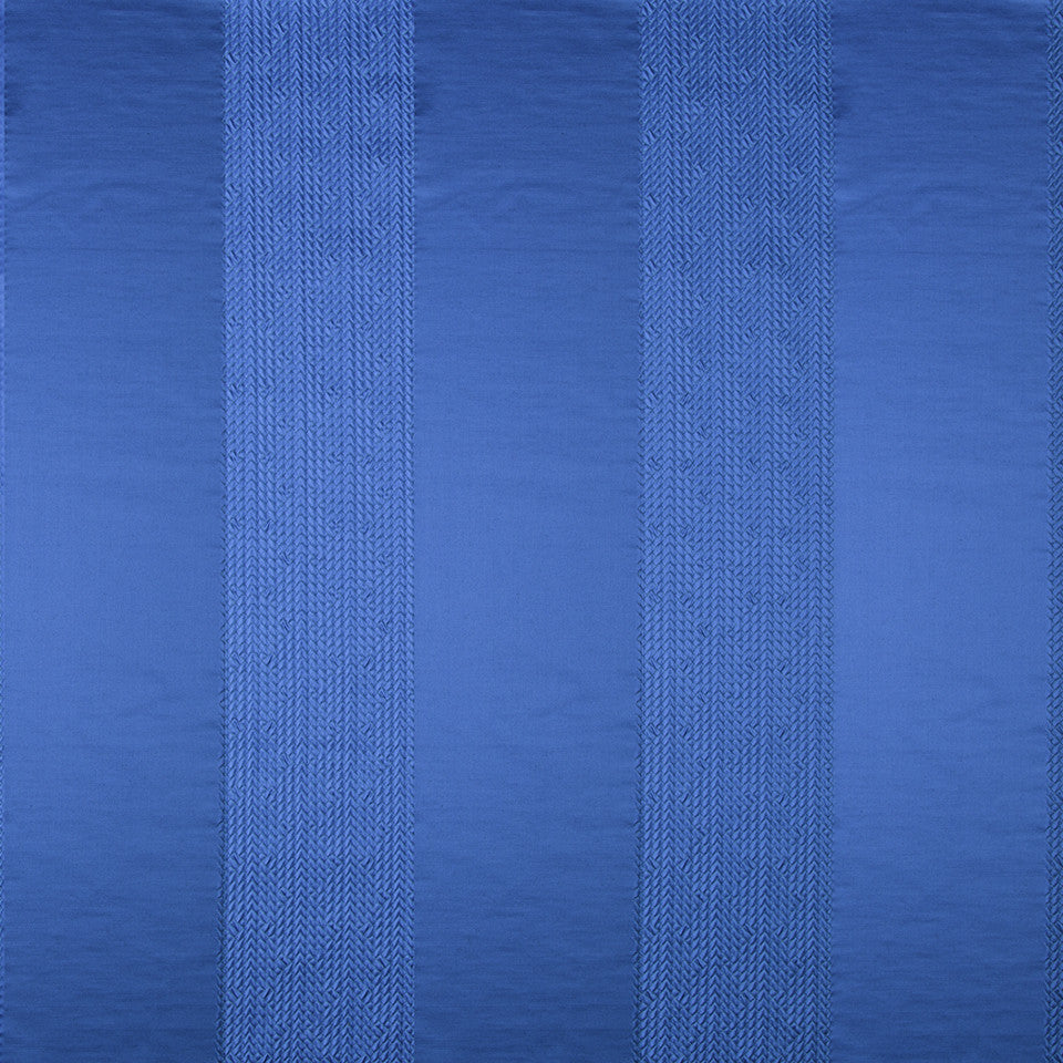 SILK STRIPES & PLAIDS Sabrina Stripe Fabric - Island Blue