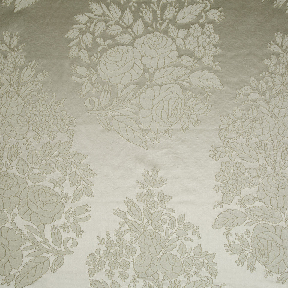 SILK JACQUARDS & EMBROIDERIES III Amazon Flower Fabric - Ivory