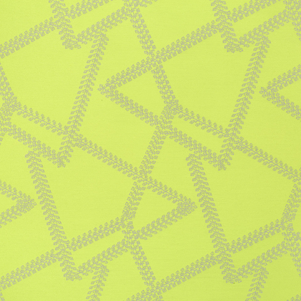 SAPPHIRE-LIME-CAPRI Cross Vines Fabric - Lime