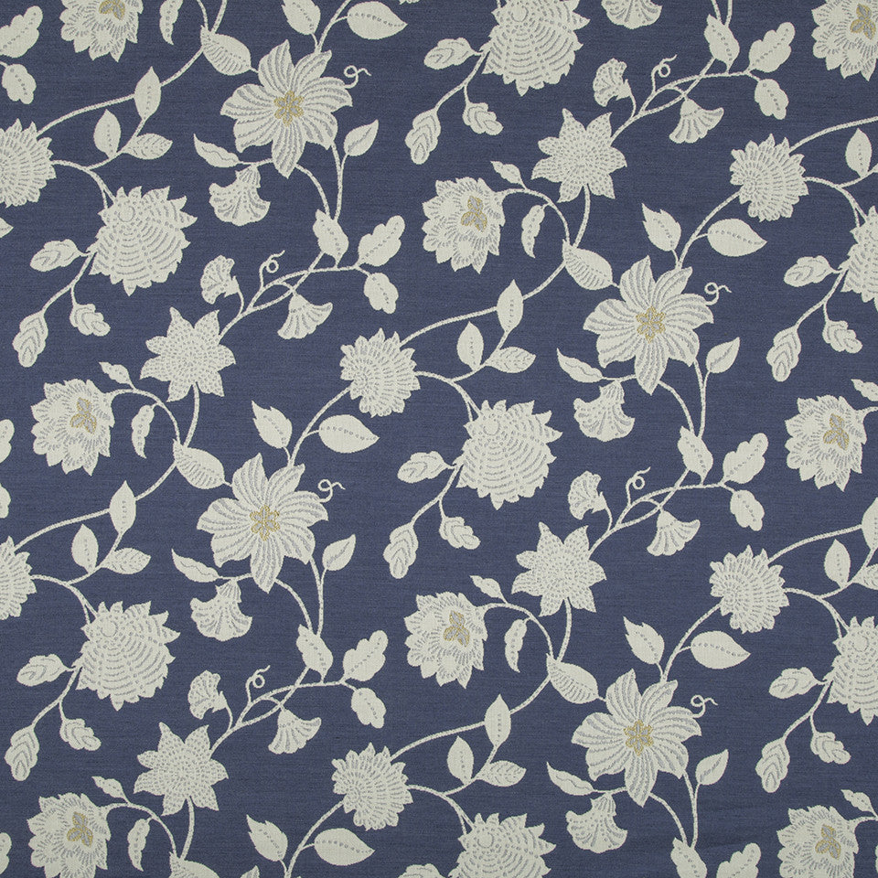 OPEN AIR Botanic Flora Fabric - Indigo