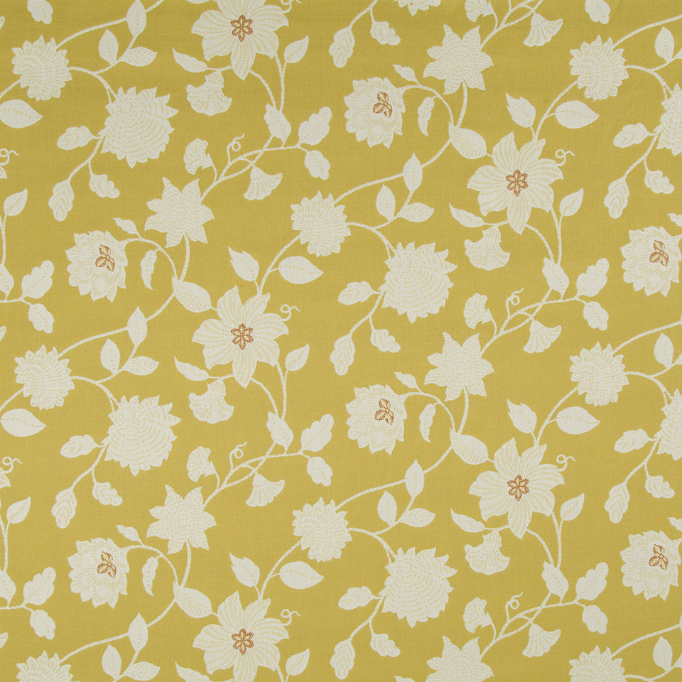 OPEN AIR Botanic Flora Fabric - Sunray