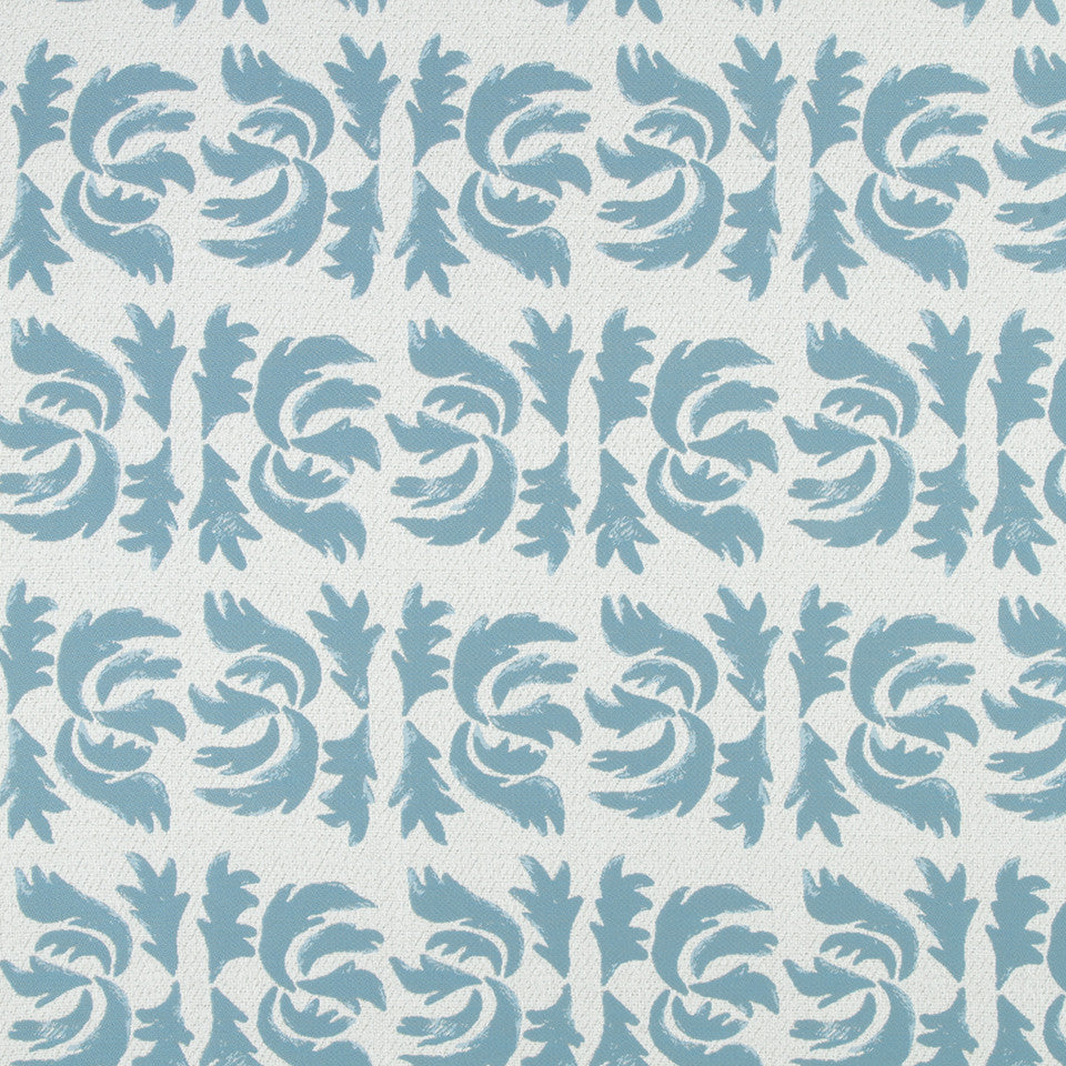 OPEN AIR Flowing Petal Fabric - Turquoise