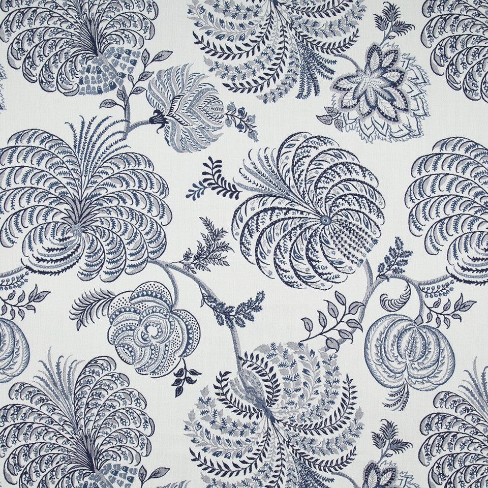 OPEN AIR Garden Life Fabric - Indigo