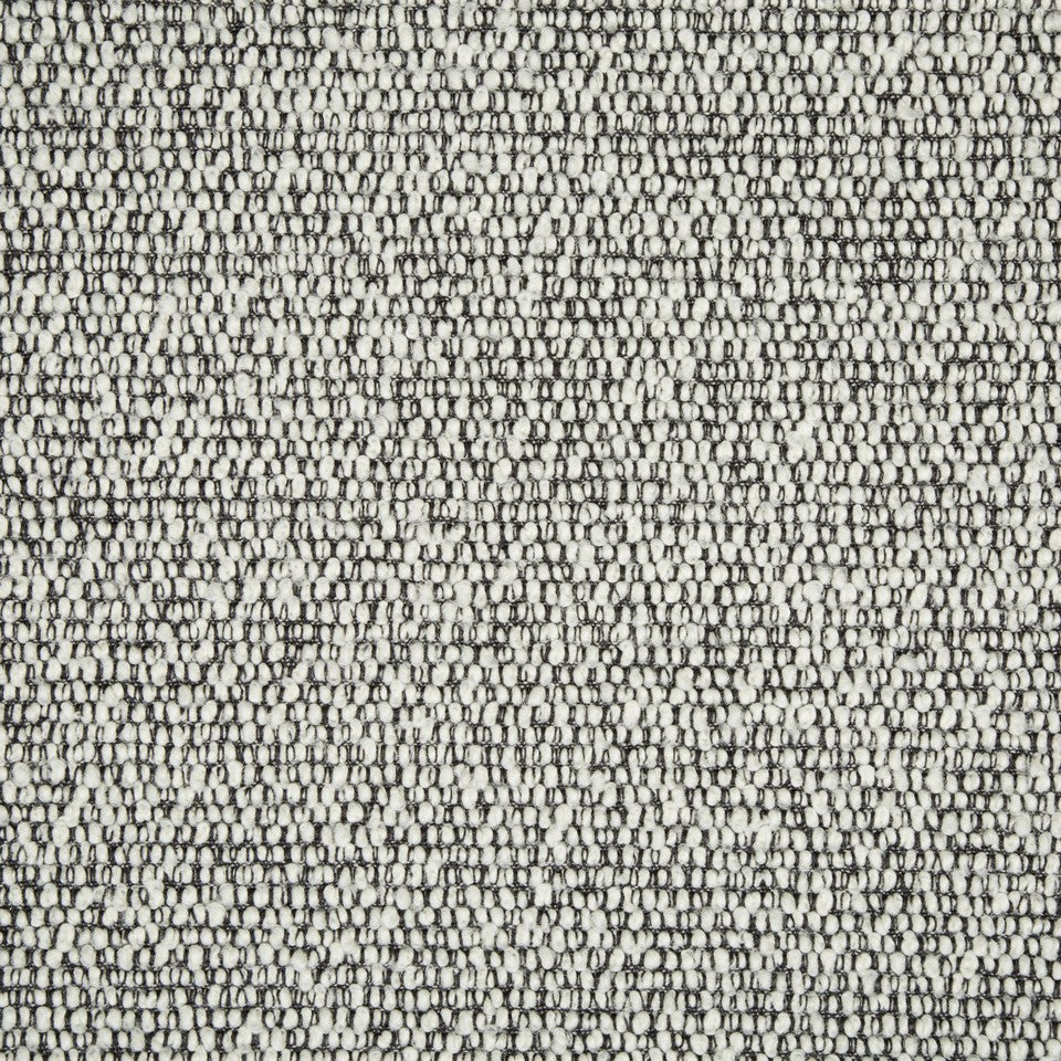 PLUSH BOUCLE SOLIDS Faye Boucle Fabric - Black And White