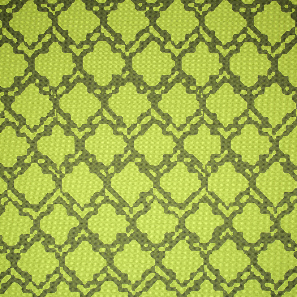 SAPPHIRE-LIME-CAPRI Graphic Nature Fabric - Lime