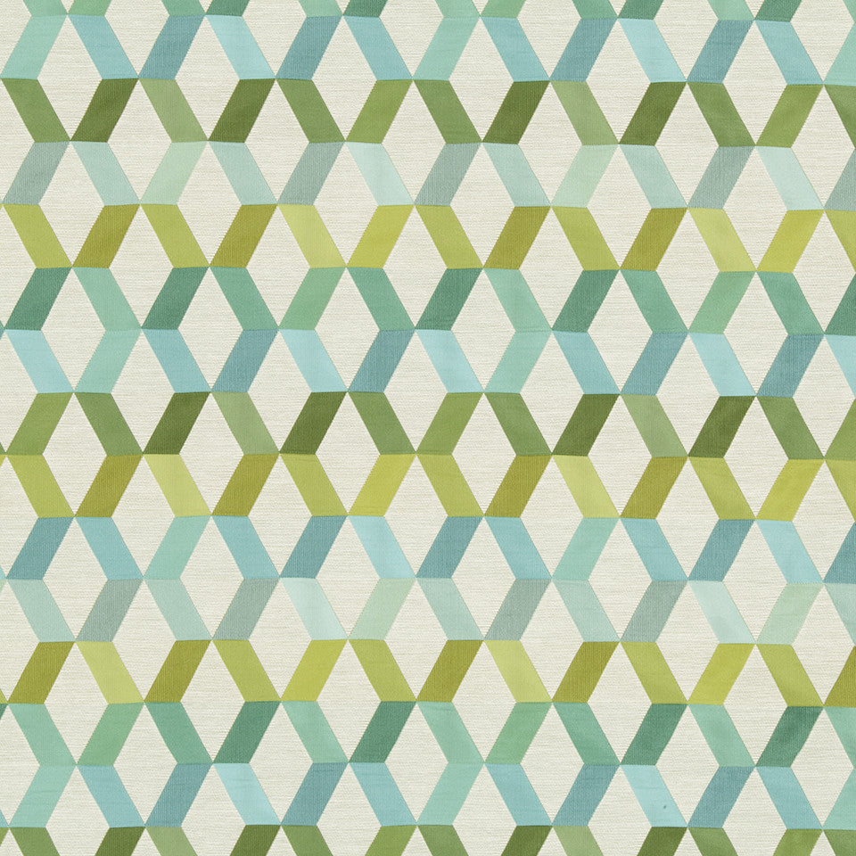 SAPPHIRE-LIME-CAPRI Diamond Facets Fabric - Lime