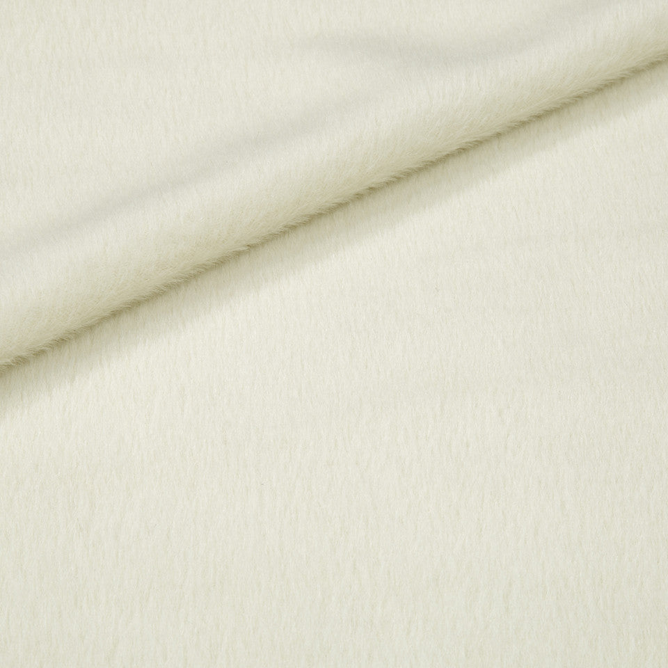 EXCLUSIVE FURS Luxe Alpaca Fabric - Ivory