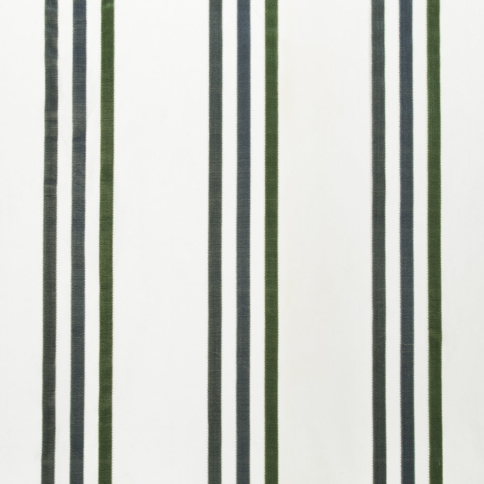SILK STRIPES & PLAIDS Adriana Stripe Fabric - Neptune