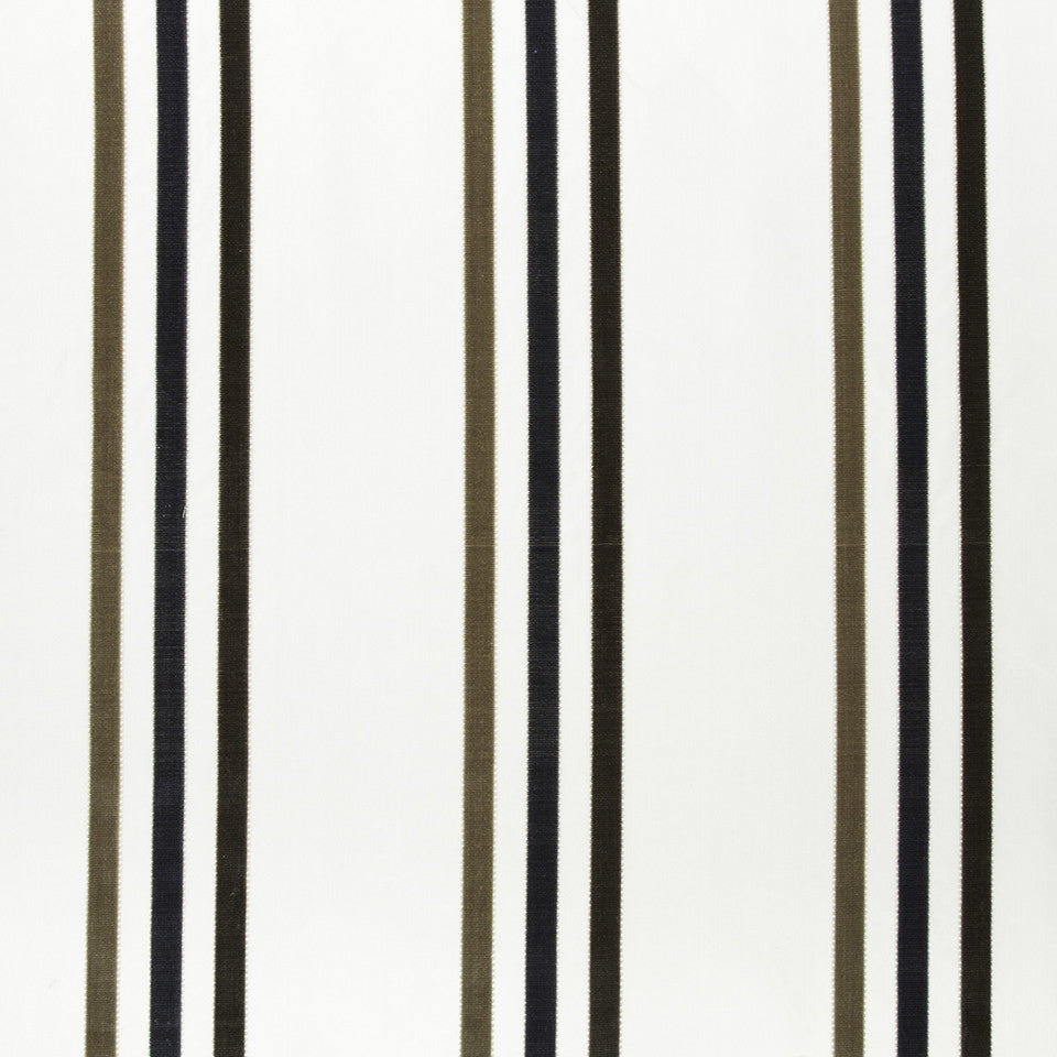 SILK STRIPES & PLAIDS Adriana Stripe Fabric - Atlantic