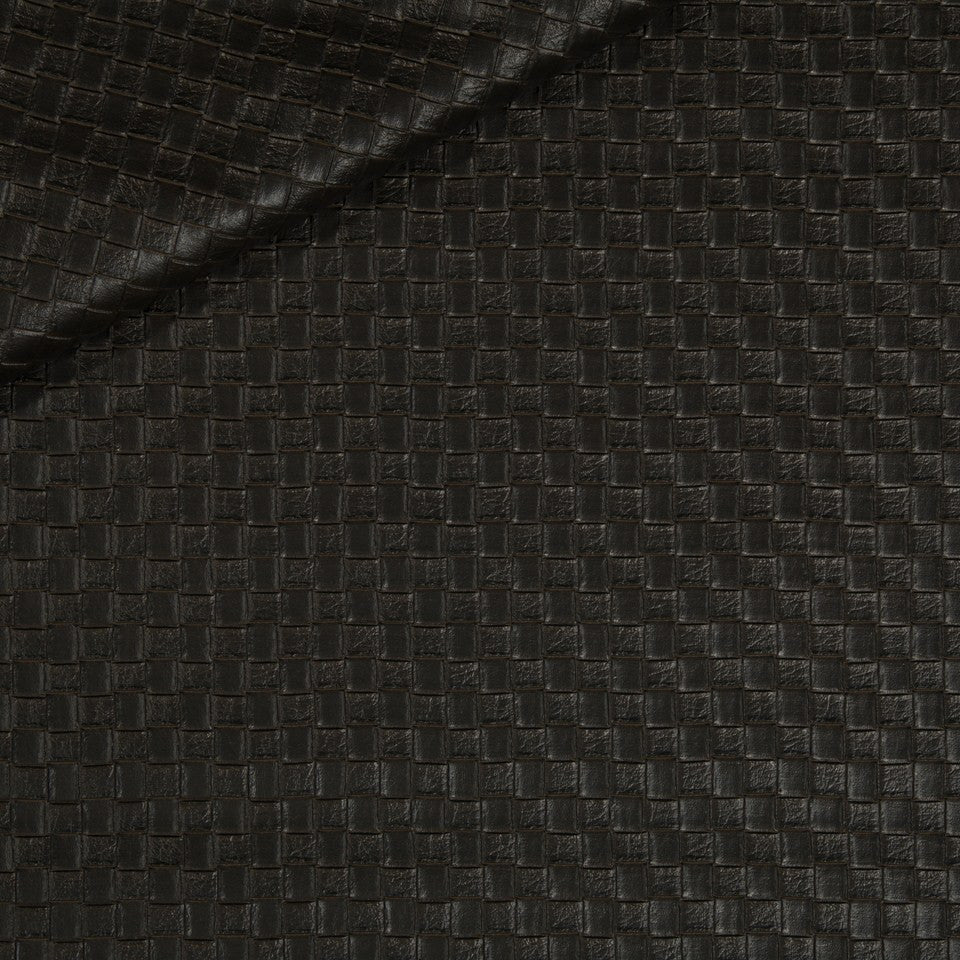 FAUX LEATHER II Via Veneta Fabric - Seal
