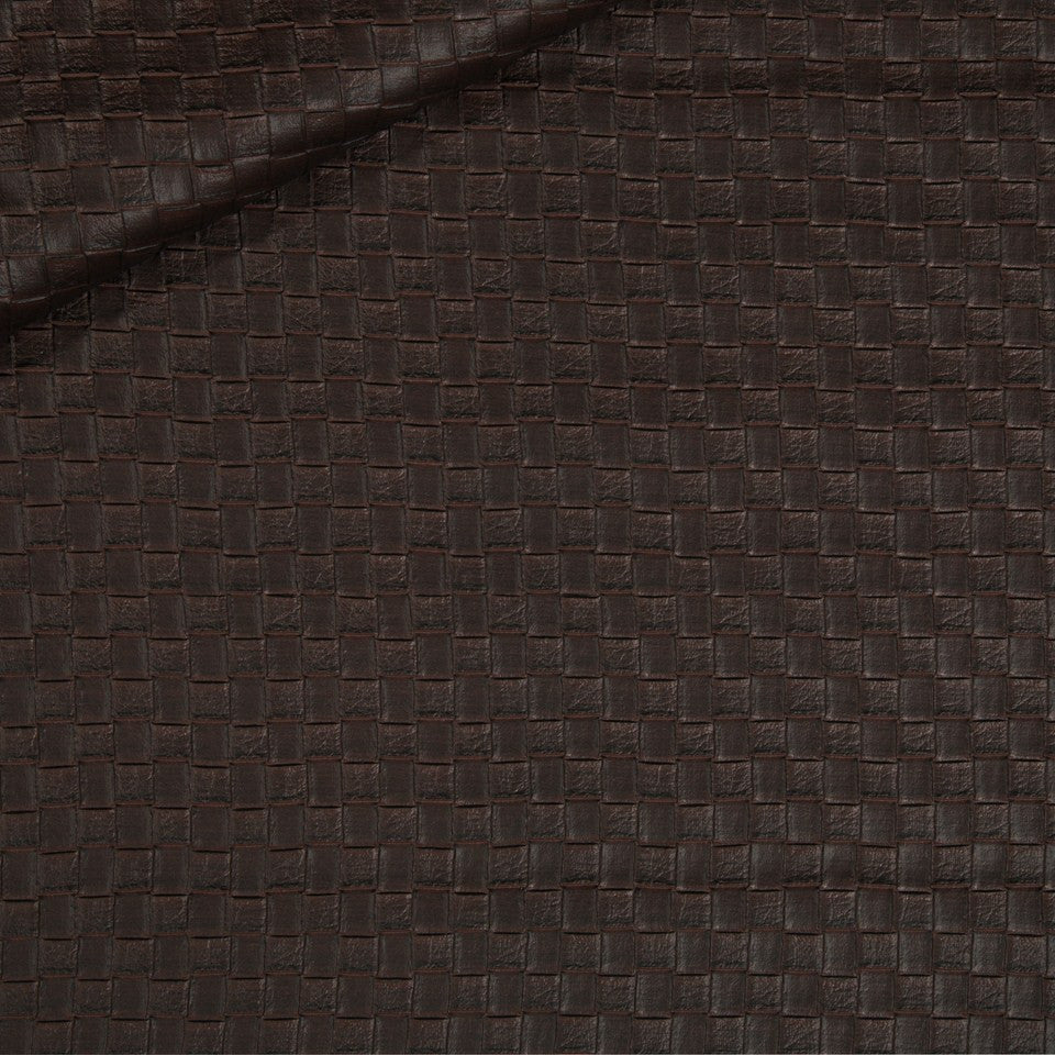 FAUX LEATHER II Via Veneta Fabric - Mahogany