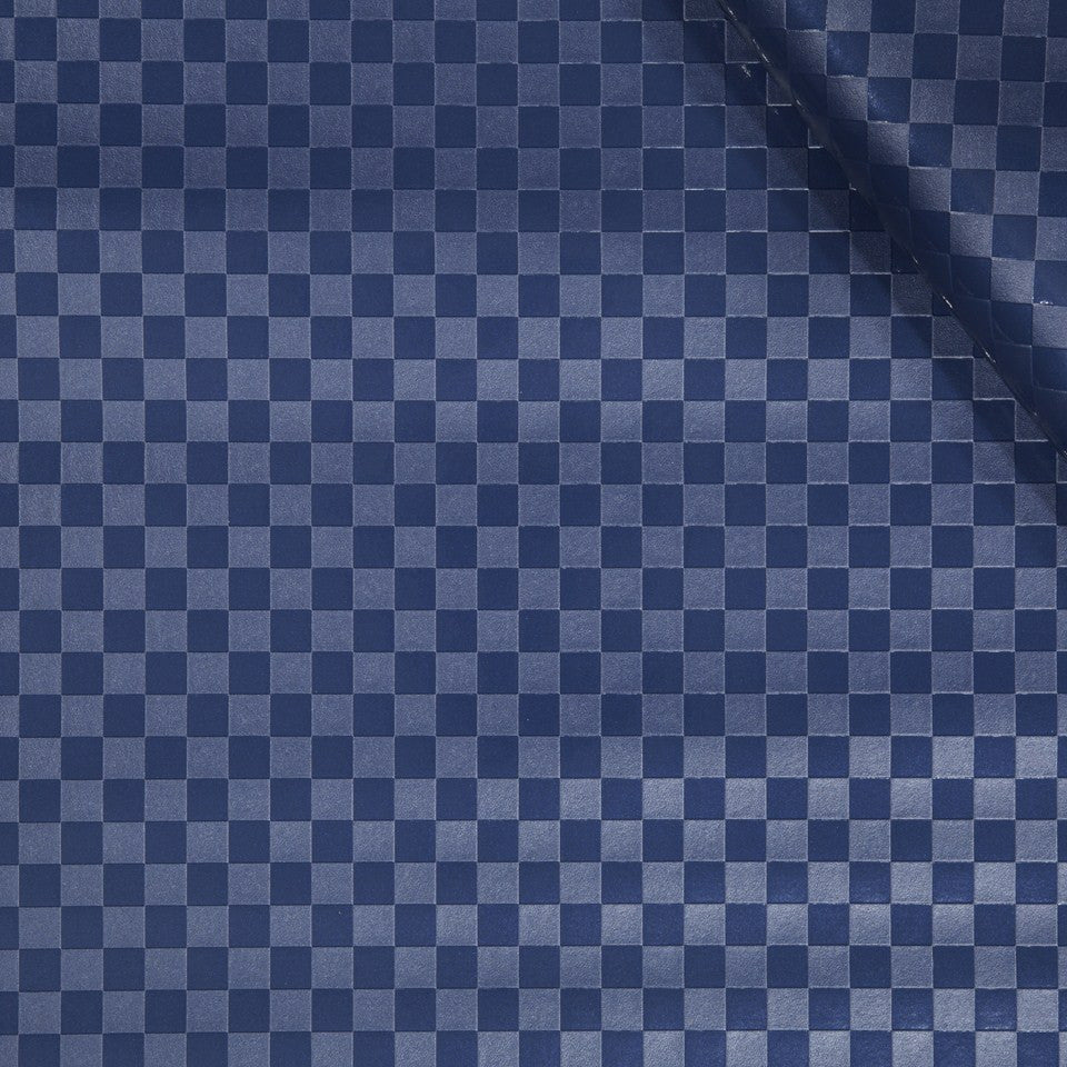 FAUX LEATHER II Hop On Fabric - Sapphire