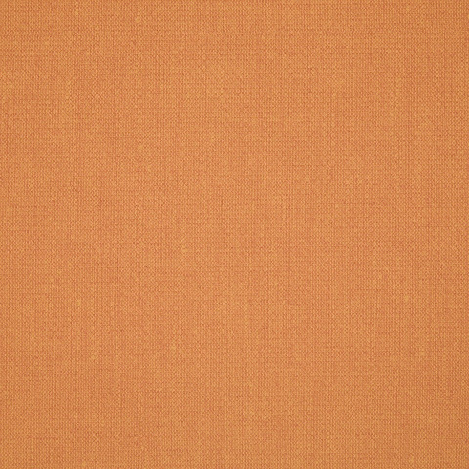FAUX LEATHER II Canvas Texture Fabric - Tangerine
