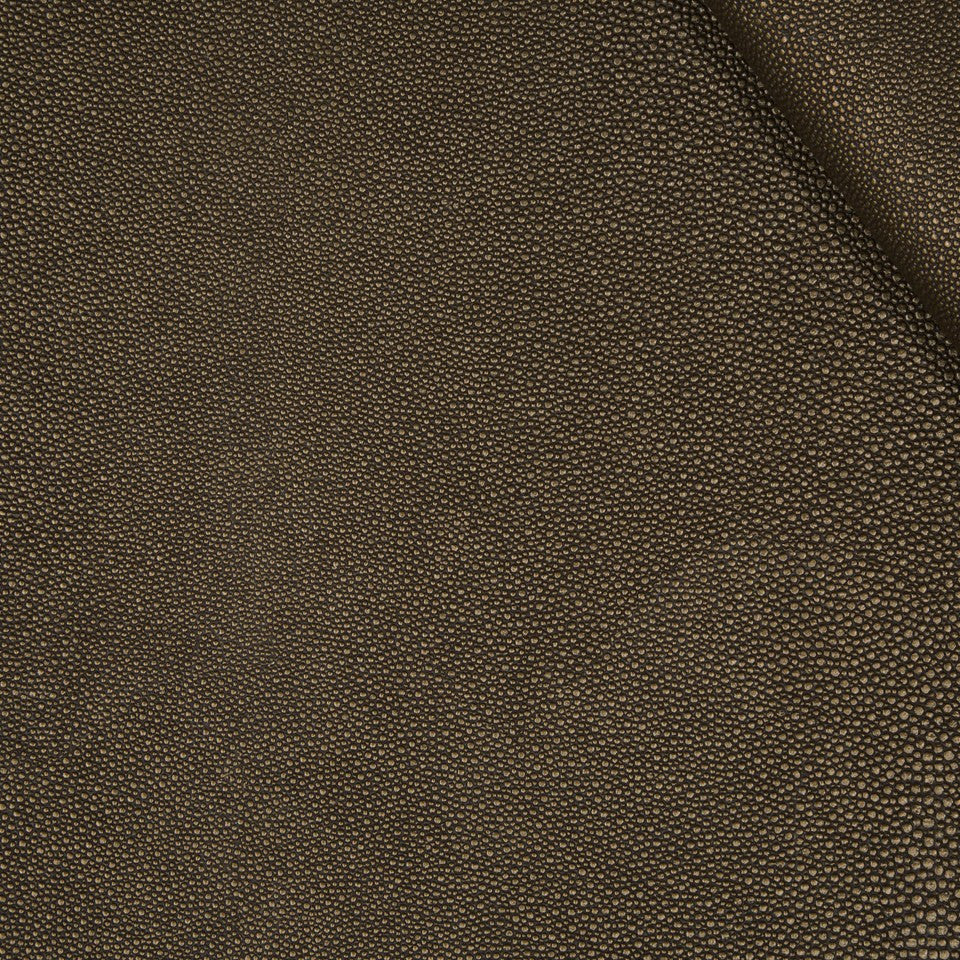 FAUX LEATHER II Stone Luxe Fabric - Bark