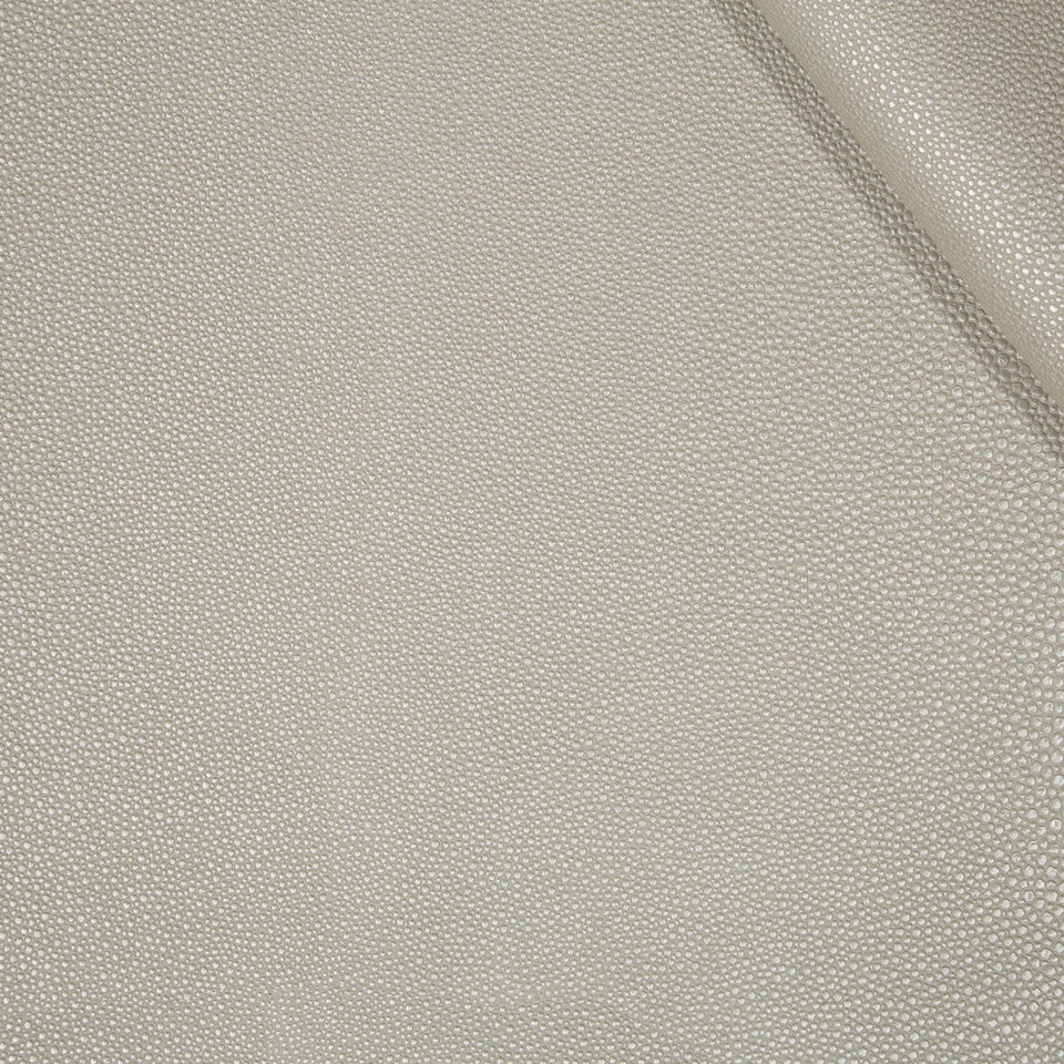 FAUX LEATHER II Stone Luxe Fabric - Crystal